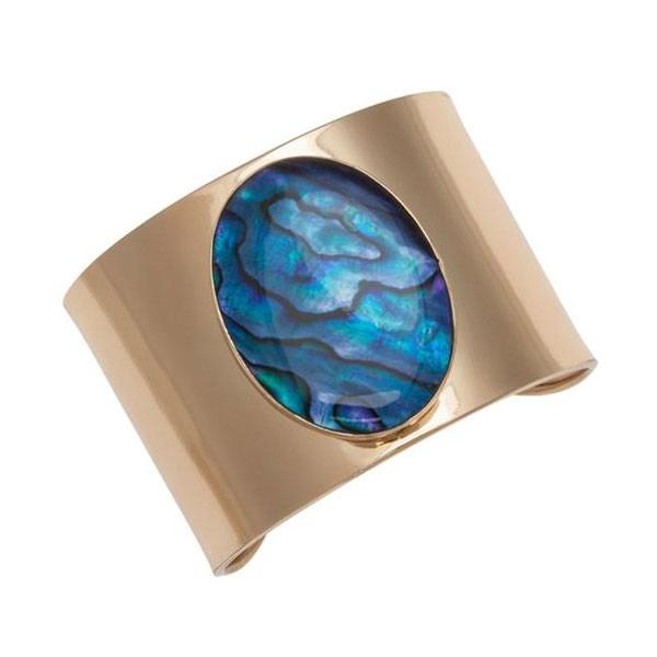 Alchemia Blue Abalone Cuff Bracelet