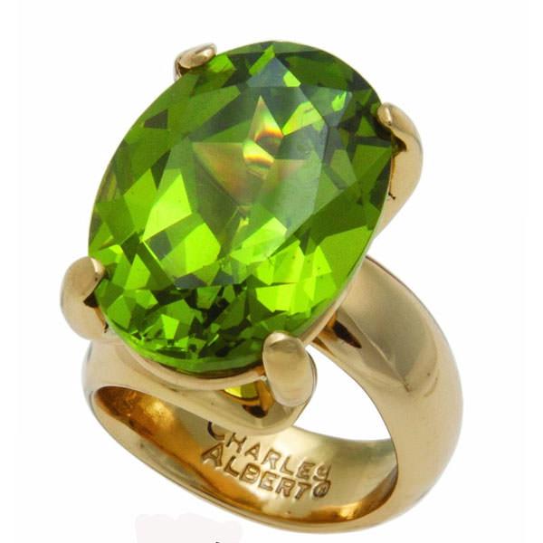 Alchemia Peridot Adjustable Ring