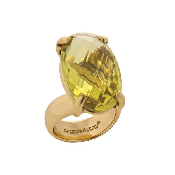 Alchemia Citrine Prong Set Adjustable Ring