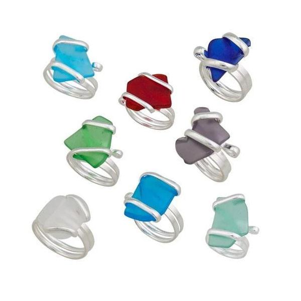 Sea Glass Adjustable Ring