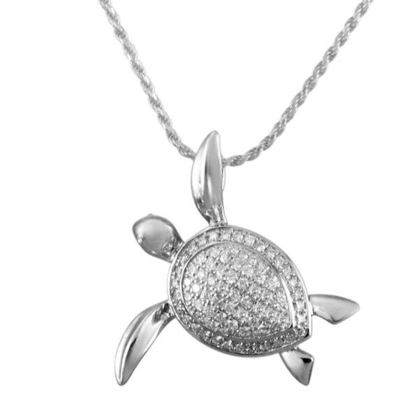 Crystal Turtle Pendant