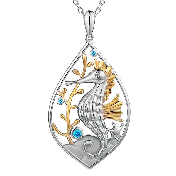 Crystal Seahorse Pendant