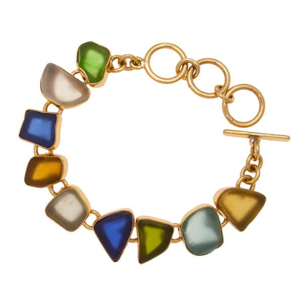 Alchemia Multi Color Recycled Glass Bracelet