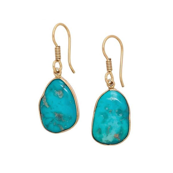 Alchemia Sleeping Beauty Turquoise Freeform Drop Earrings