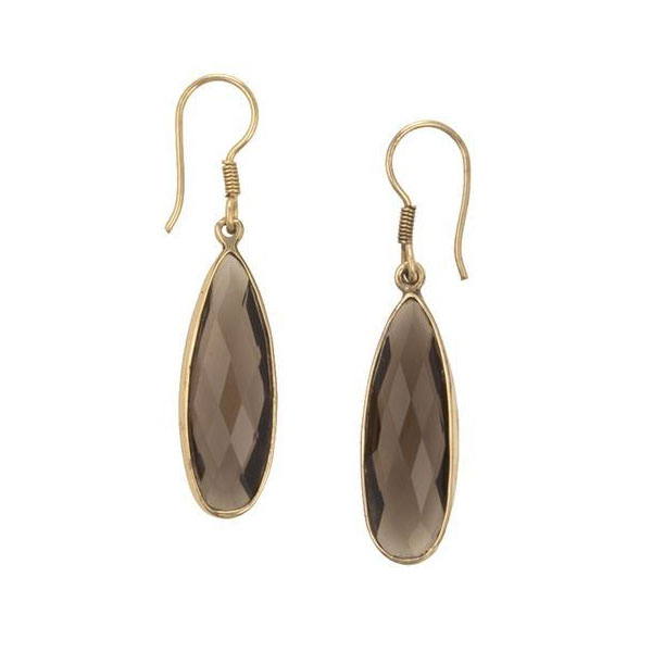 Alchemia Smokey Quartz Teardrop Earrings